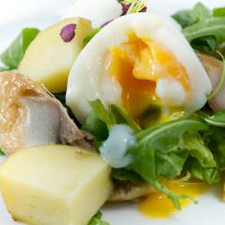 Egg, Cucumber and Smoked Mackerel Salad.