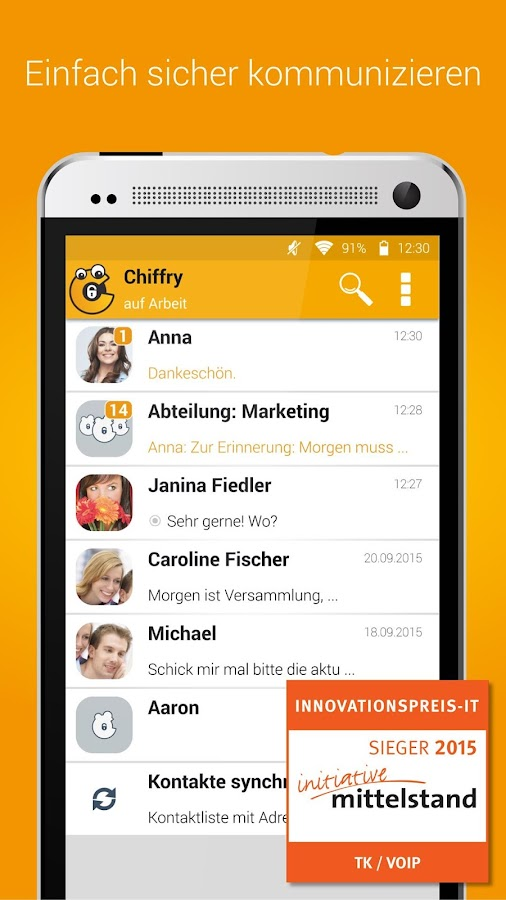 Chiffry Secure Messenger- screenshot