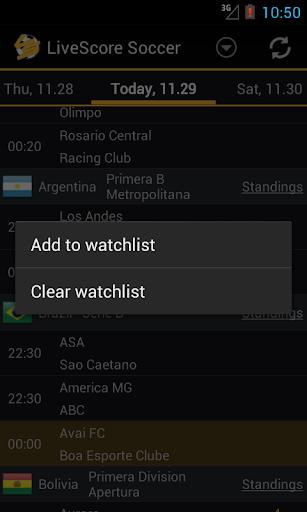 Livescore Soccer 1.3.8 screenshots 5