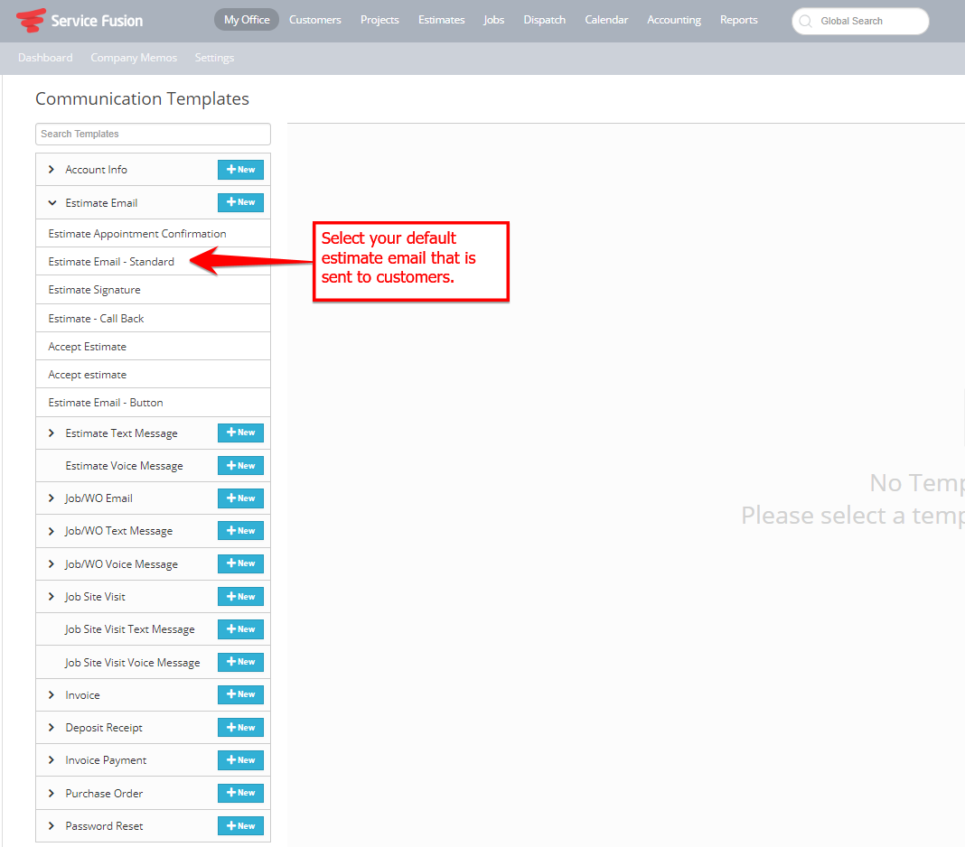 How To Add An Email Link To Accept Estimates Online Servicefusion - Estimate email template