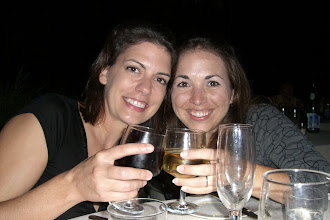 Photo: Teresa and Katie enjoying wine during dinner in Sienna at the castle...lots and lots of wine
