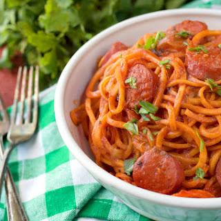 Paleo Spicy Sausage Pasta