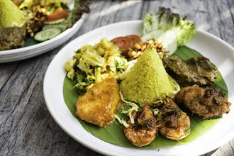 Photo: Nasi Kuning (a traditional Indonesian dish)