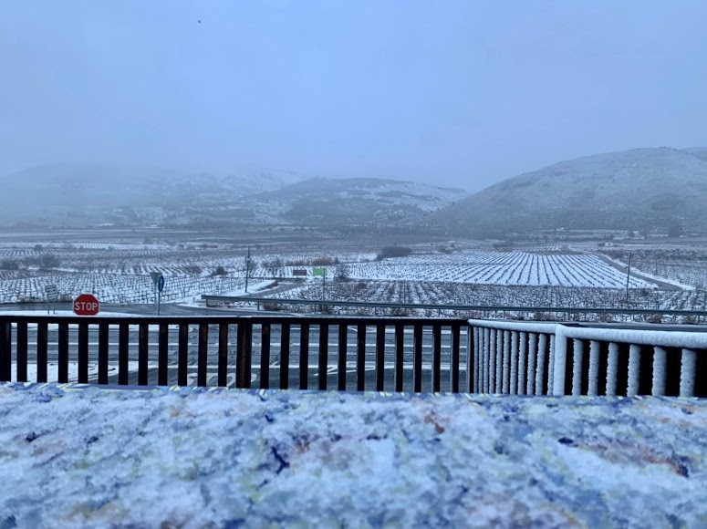 Laujar de Andarax, capital de la Alpujarra, nevada.