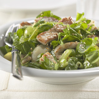 Warm Pork and Spinach Salad.