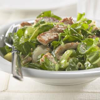 Warm Pork and Spinach Salad.