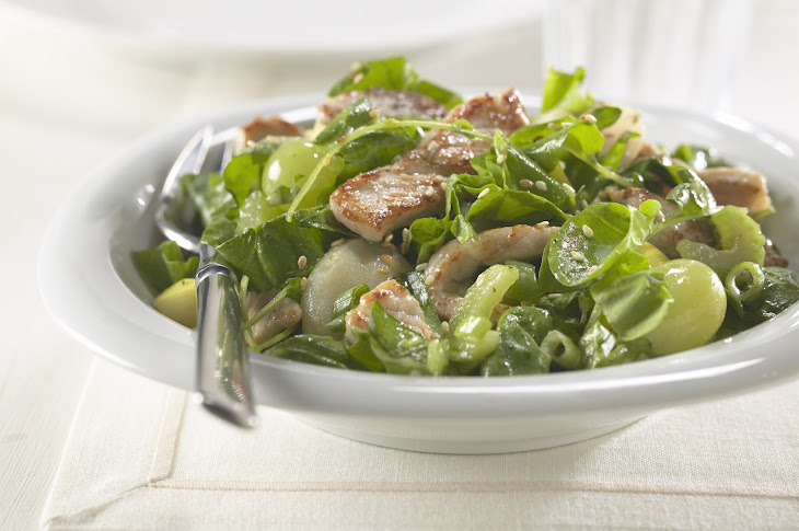 Warm Pork and Spinach Salad