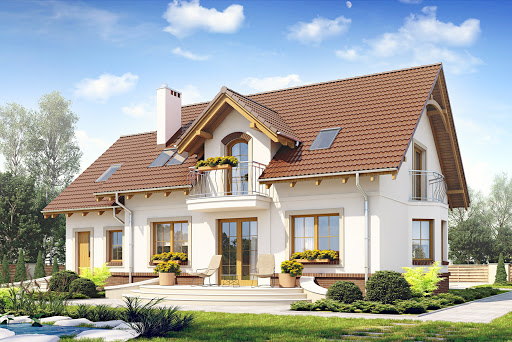 projekt Dom Dla Ciebie 1 w4 z garażem 1-st. A