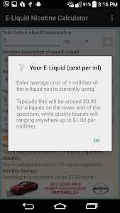 E-Liquid Nicotine Calculator screenshot 8