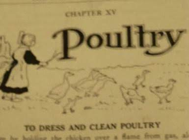 How To Dress &clean Poultry-1930 Settlement C/book Recipe