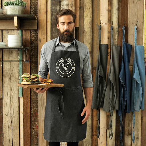 Denim Bib Apron No Pocket