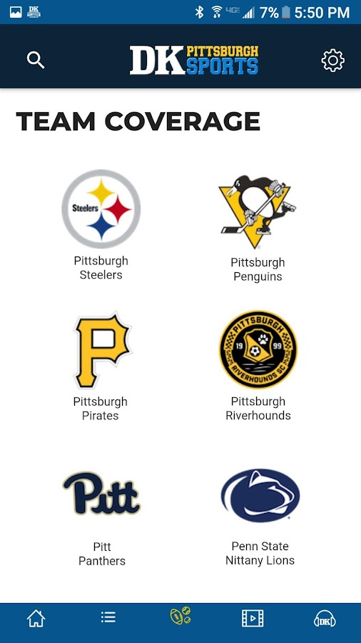 DK Pittsburgh Sports- screenshot
