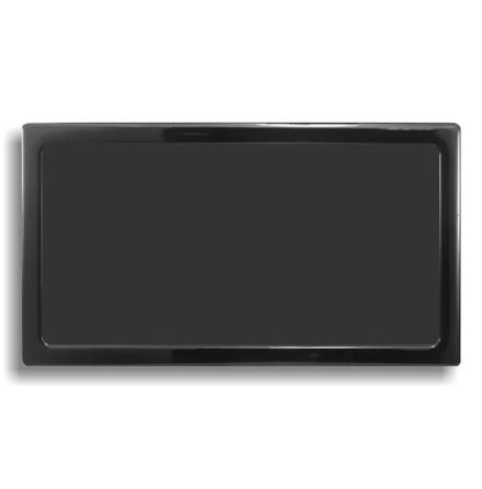 DEMCiflex magnetisk filter 2x120mm, rektangulær, sort