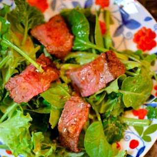 Creole-Spiced Steak Salad with Pepper Jelly Vinaigrette.