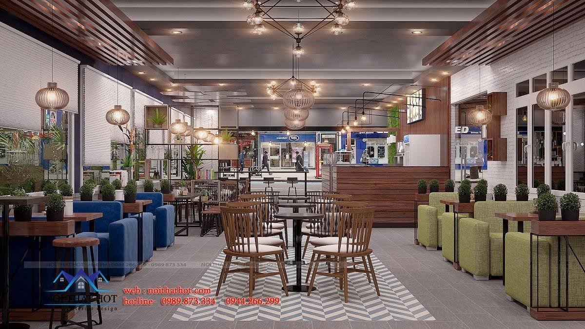 thiết kế quán trà sữa royal tea 9
