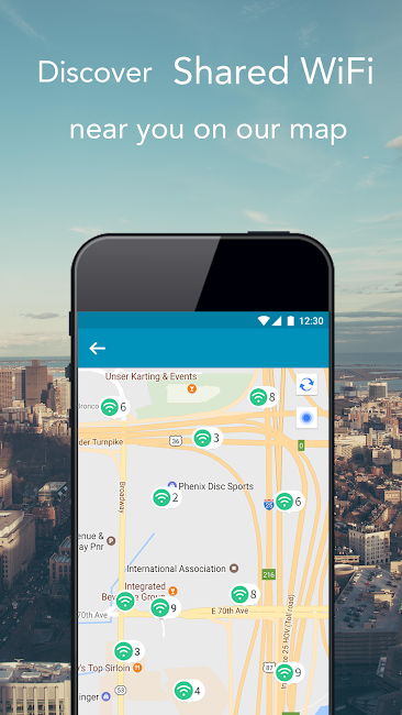 #3. WeShare: Share WiFi Worldwide (Android)
