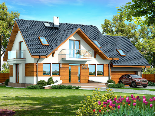 Projekty Domów Parterowych Z Poddaszem Toobapl
