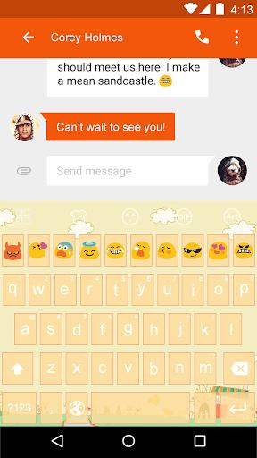 metal skies -Emoji Keyboard