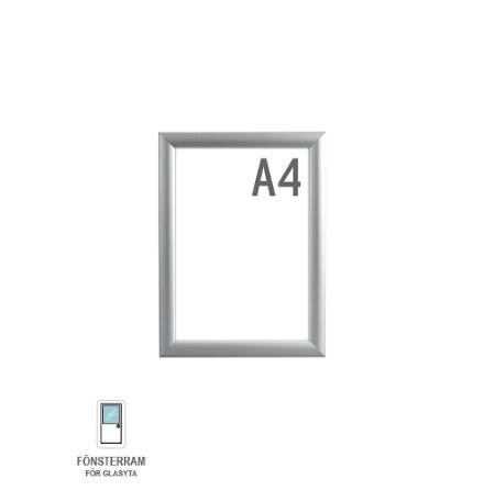 Snäppram, Window Frame A4, 25mm aluminiumprofil