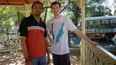 Photo: Adarsh ( Googler and tour guide ;) and myself