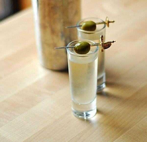 Dirty Vodka Martini Shooters Recipe