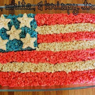 American Flag Krispy Treats.