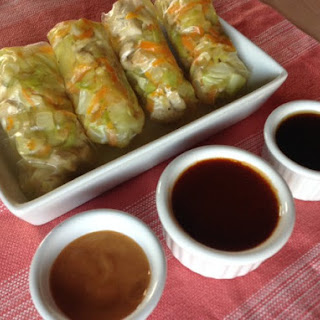 Gluten Free Spring Rolls with 3 Sauces