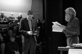 Photo: Don Olson recognizes Phil Steger