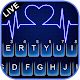 Neon Blue Heartbeat Keyboard Theme APK
