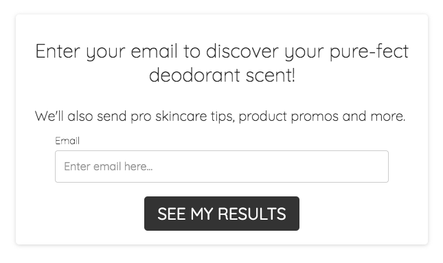 email optin for Primally Pure quiz results