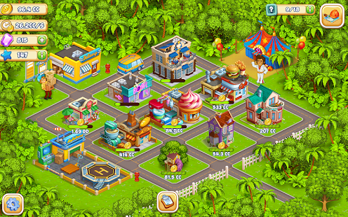 Idle Cartoon City Empire:Miner,Supermarket,Farming Screenshot