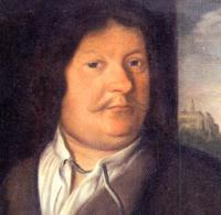 """Photo: Foto: Johann Ambrosius Bach, geboren am 22.02.1645 in Erfurt,  gestorben am 20.02.1695 in Eisenach  Der Vater von Johann Ambrosius Bach ist der Stadtmusikant Christof Bach d.Ä..  Johann Ambrosius Bach war der Vater von """"Johann Sebastian Bach"""" und ein Zwillingsbruder von Johann Christoph Bach (1645-1693). Von ihnen wird berichtet, dass sie sich so ähnlich sahen, dass selbst ihre Frauen sie nur mit Mühe unterscheiden konnten. Carl Philipp Emanuel Bach vermerkt dazu in der Familienchronik: """"ein Wunder für große Herren und jedermann""""."""