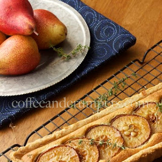 Forelle Pear and Thyme Frangipane Tart