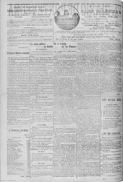 Diario de Pontevedtra  Octubre 1918