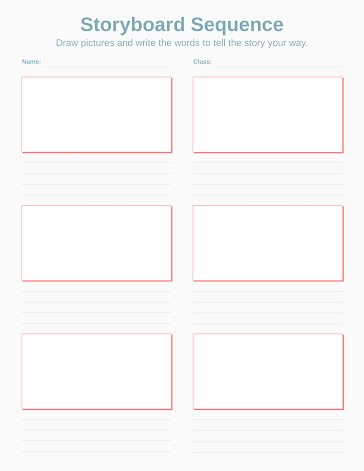 Storyboard Sequence - Storyboard template