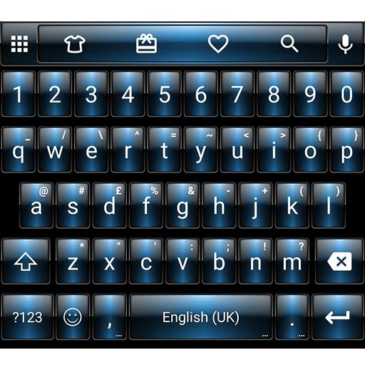 Dusk Blue Emoji Keyboard