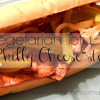 Vegetarian Tofu Philly Cheesesteaks