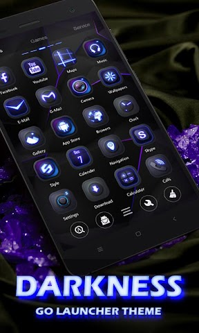 android Darkness GO Launcher Theme Screenshot 0