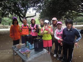 Photo: 吉塚ママと 今日の料理が楽しみで走っている キャップ+フーチャン、 しんこ+ミッフィー、 プーヒー、 マッピー+マァーちゃん