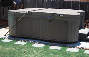 Photo: Your 8'x12' EZ Pad was perfect for our large spa.  It was so much less than our quote for concrete pad.  D.O. Oceanside, CA