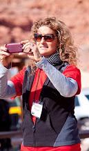 Photo: Debbie, capturing a photo.