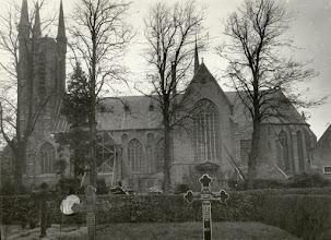 Photo: 1921 Martinuskerk na de storm van 6 november.