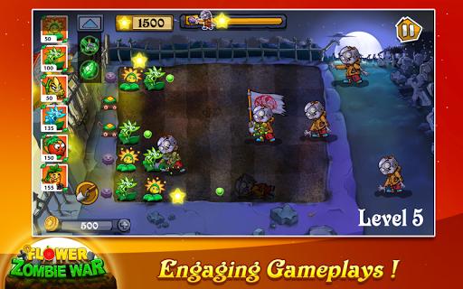 Flower Zombie War  captures d'écran 2