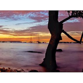 Sunset at Changi Boardwalk, Singapore by Suriati Yacob - Landscapes Sunsets & Sunrises