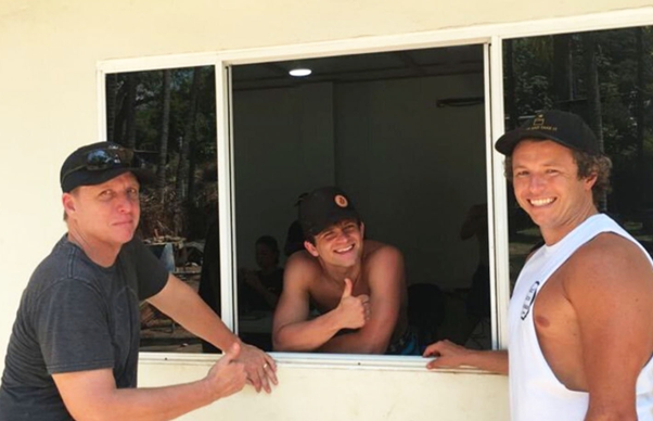 (l-r) Michael Peterson of Bitcoin Beach, Jack Mallers of Strike and Miles Suter of CashApp in El Salvador. Source: CoinDesk