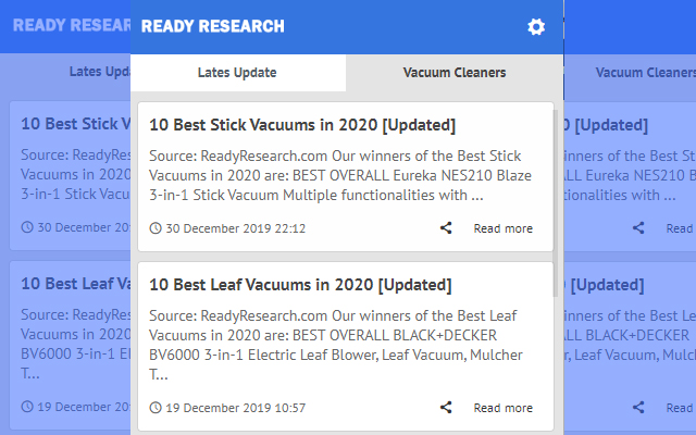 Vacuum Cleaners - Latest Update News