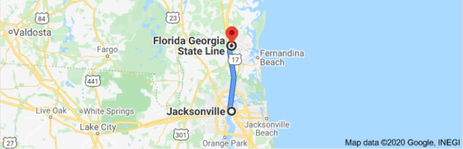 Jacksonville to Georgia state line