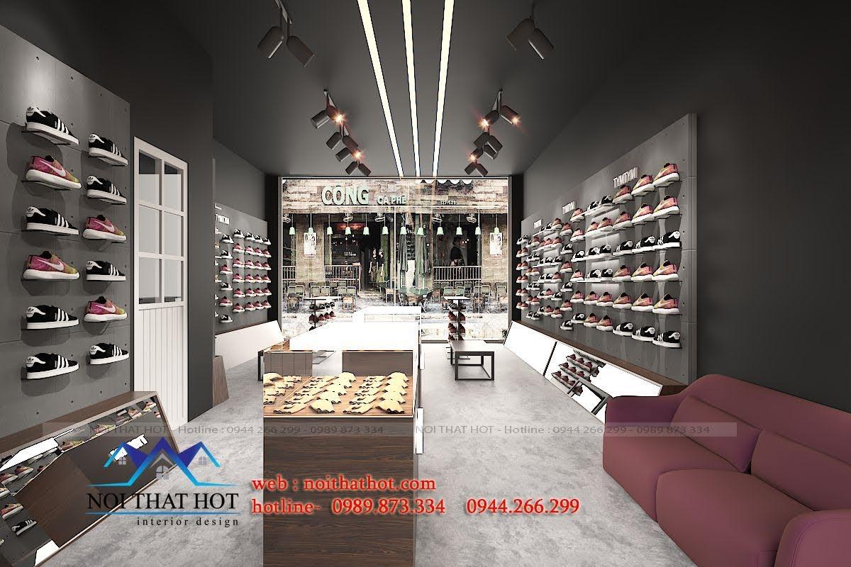 thiết kế shop giày nam 5