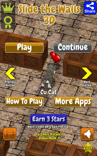 Cu Cat Slide The Walls 3D