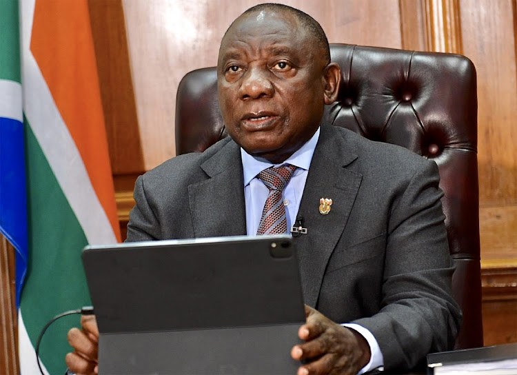 President Cyril Ramaphosa addresses SA on developments in relation to the country's response to the coronavirus pandemic, on January 11 2021. Picture: GCIS